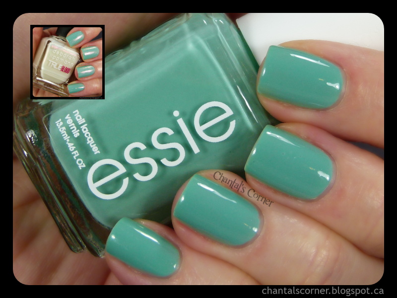"""Essie """"Turquoise & Caicos"""" – Swatches and Review – and some Deborah Lippmann """"Fairydust"""""""