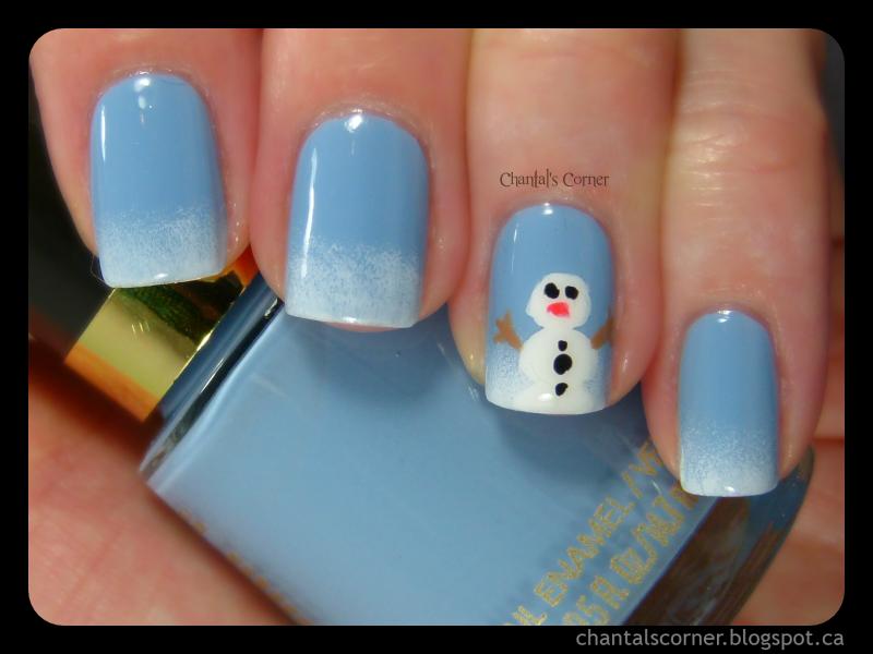 Snowman Nail Art - Snowman Nail Art - Chantal's Corner