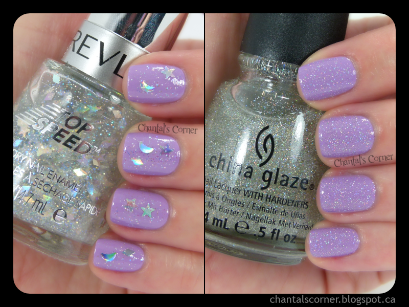 "Glitter Topper Fail (Revlon ""Celestial FX"") and Success (China Glaze ""Fairy Dust"") – Swatches and Review"