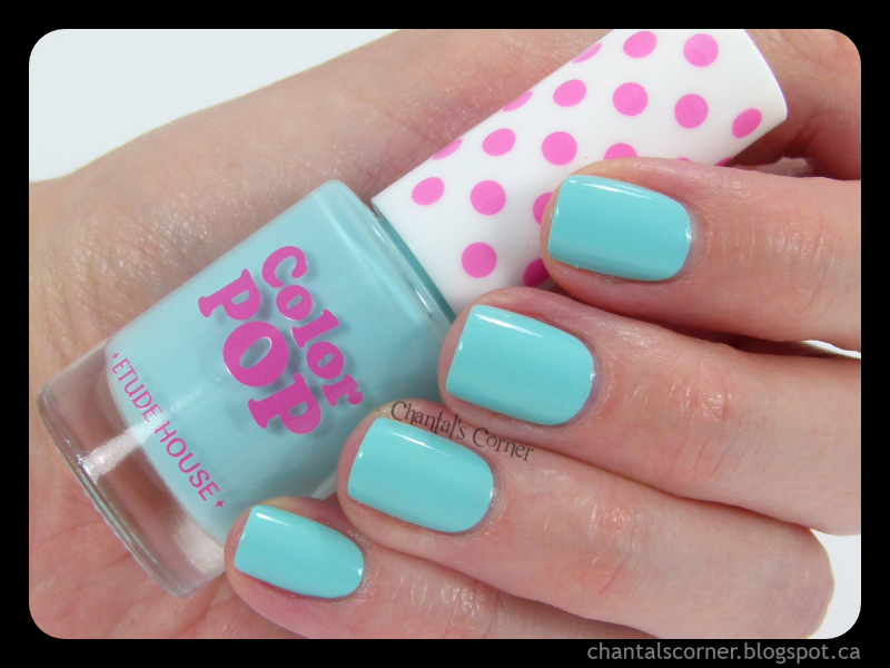 """Etude House """"Cool Mint Pop"""" (CGR705) – Swatches and Review"""