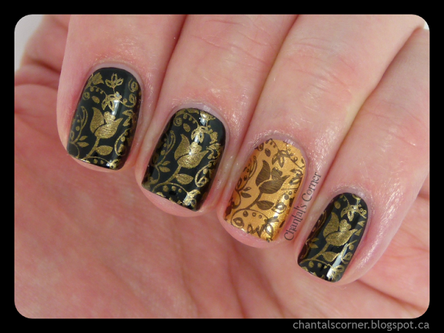 Busy Girl Nails Fall Nail Art Challenge Week 1 – Antique Gold