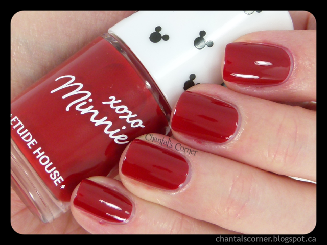 """Etude House """"Minnie Red"""" Nail Polish – Swatches and Review"""