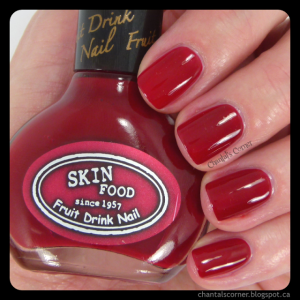 Skinfood Raspberry Drink nail polish