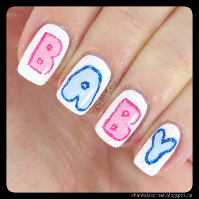 Baby Nail Art - I'M PREGNANT!!! :D