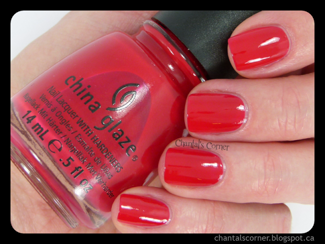 "China Glaze ""Scarlet"" – Swatches and Review"