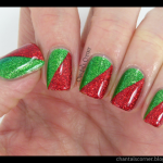 red and green christmas nail tutorial