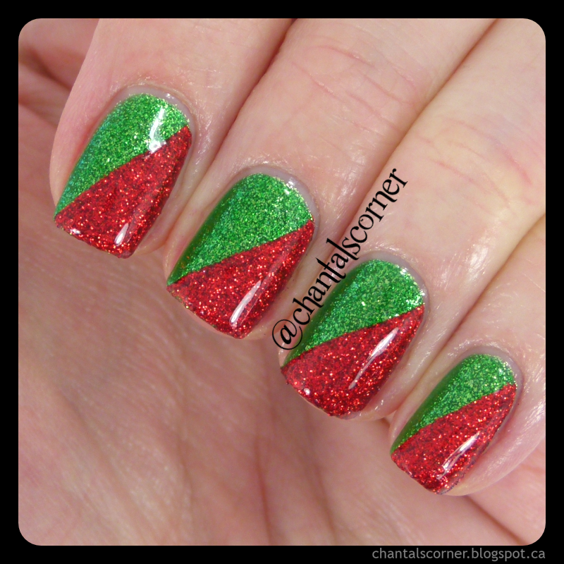 Christmas Lights Nails Pinterest: Red And Green Christmas Nails