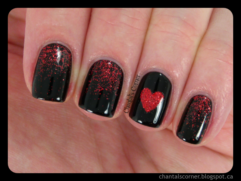 Dark Love Nail Art - Chantal\'s Corner