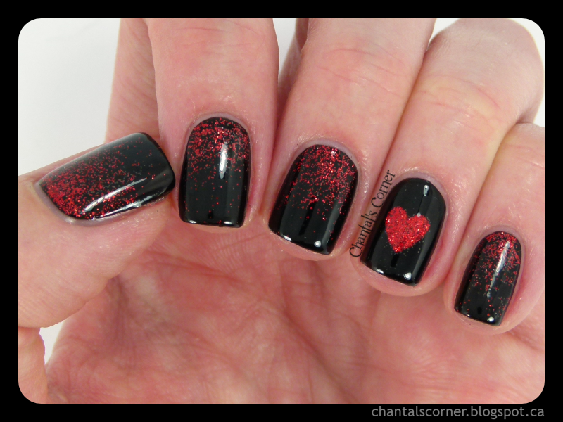 Dark Love Nail Art