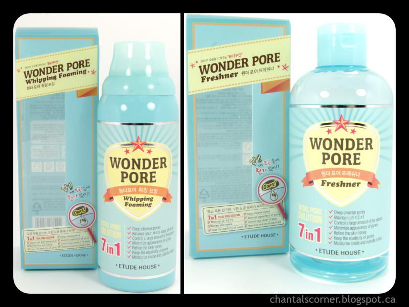 "Etude House ""Wonder Pore Whipping Foaming"" and ""Wonder Pore Freshner"" – Review"