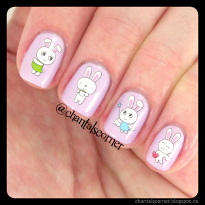BornPrettyStore Cute Rabbit Nail Water Decals