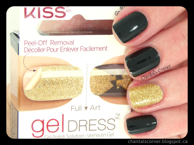 KISS Gel Dress Nail Strips in Royal Flush - Review - Chantal\'s Corner