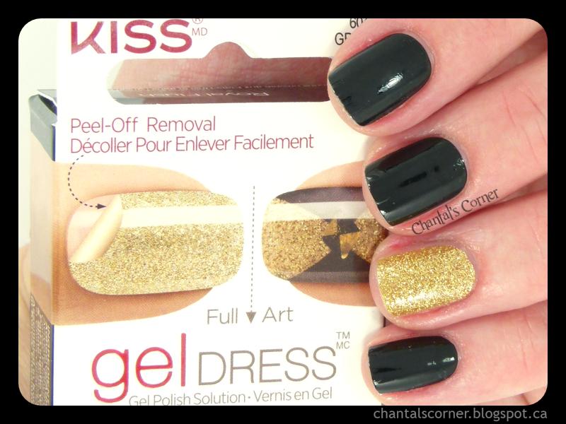 KISS Gel Dress Nail Strips in Royal Flush - Review - Chantal\'s Corner