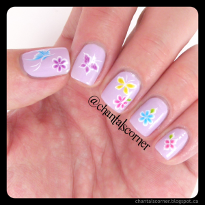 Born Pretty Store Nail Art Water Decals Flowers Butterflies