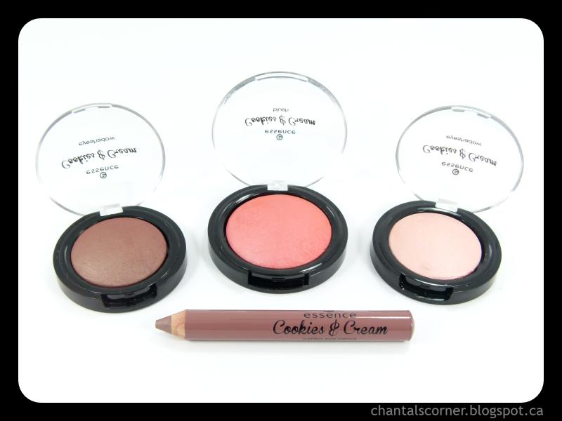 esssence cookies & cream blush, eyeshadows and jumbo eye pencil – review + FOTD