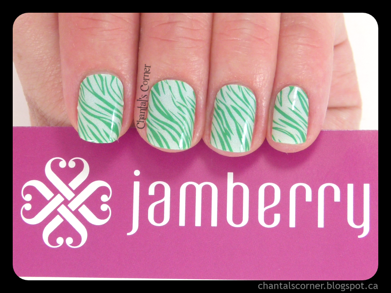Jamberry Nail Wraps in \'\'Mint & Emerald Tiger\'\' - Review - Chantal\'s ...