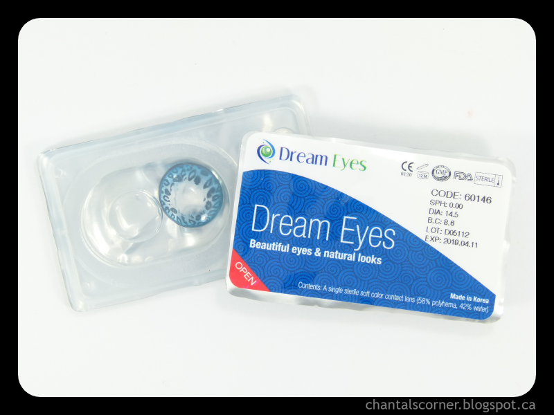 "Dream Eyes ""Leopard Blue"" Contact Lenses – Review and FOTD"