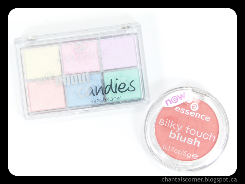 """essence """"all about candies"""" eyeshadow palette and silky touch blush in """"80 autumn peach"""" – review"""