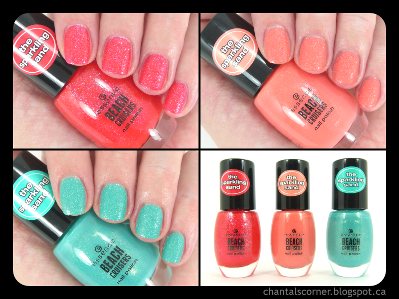 essence beach cruisers nail polishes