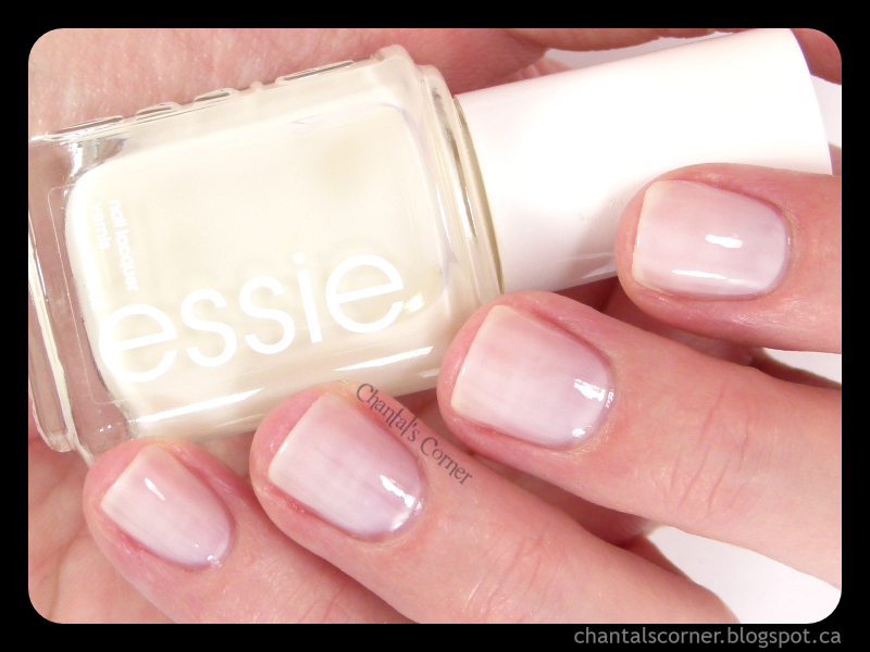 some white nail polish from essie – swatches and review