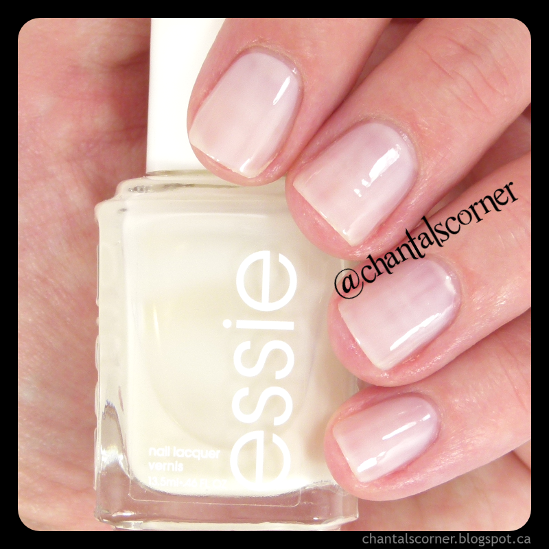 some white nail polish from essie - swatches and review - Chantal\'s ...