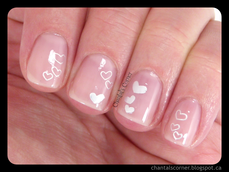 Hearts Jelly Sandwich with BornPrettyStore Nail Water Decals