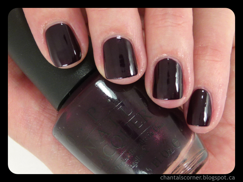 "OPI ""Black Cherry Chutney"" Nail Polish – Swatches and Review"