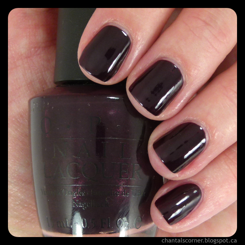OPI \'\'Black Cherry Chutney\'\' Nail Polish - Swatches and Review ...