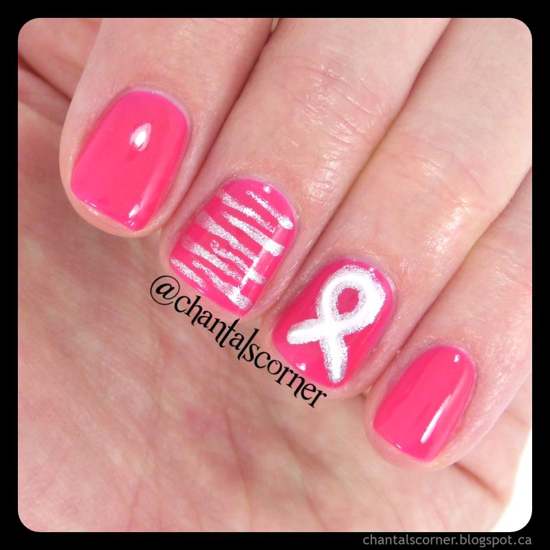 Pink Ribbon Nail Art Chantals Corner