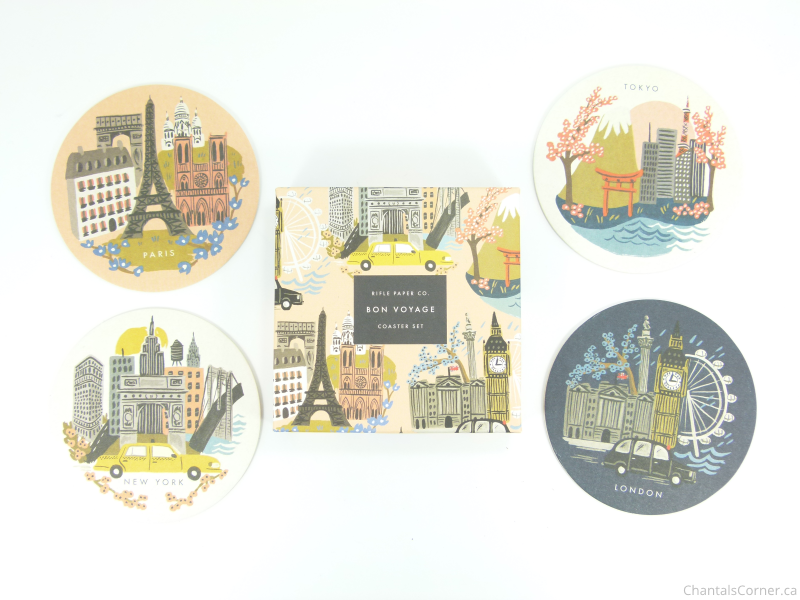 FabFitFun Spring 2015 Rifle Paper Co Cities Coasters Set