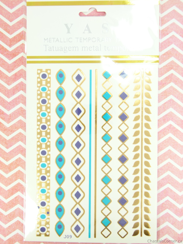 FabFitFun Spring 2015 Yasi Metallic Flash Tattoos