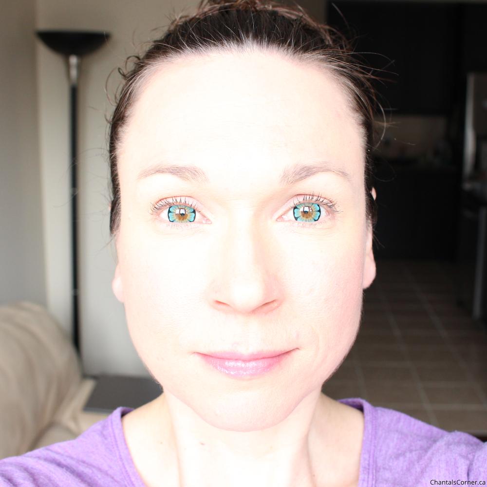 Spooky Eyes Aqua Blue Daisy Contact Lenses