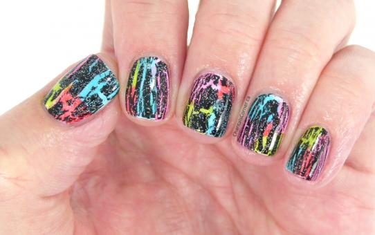 chantal's corner neon nail art