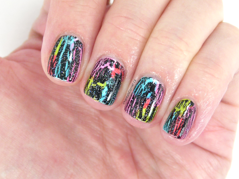 chantal's corner neon nail art