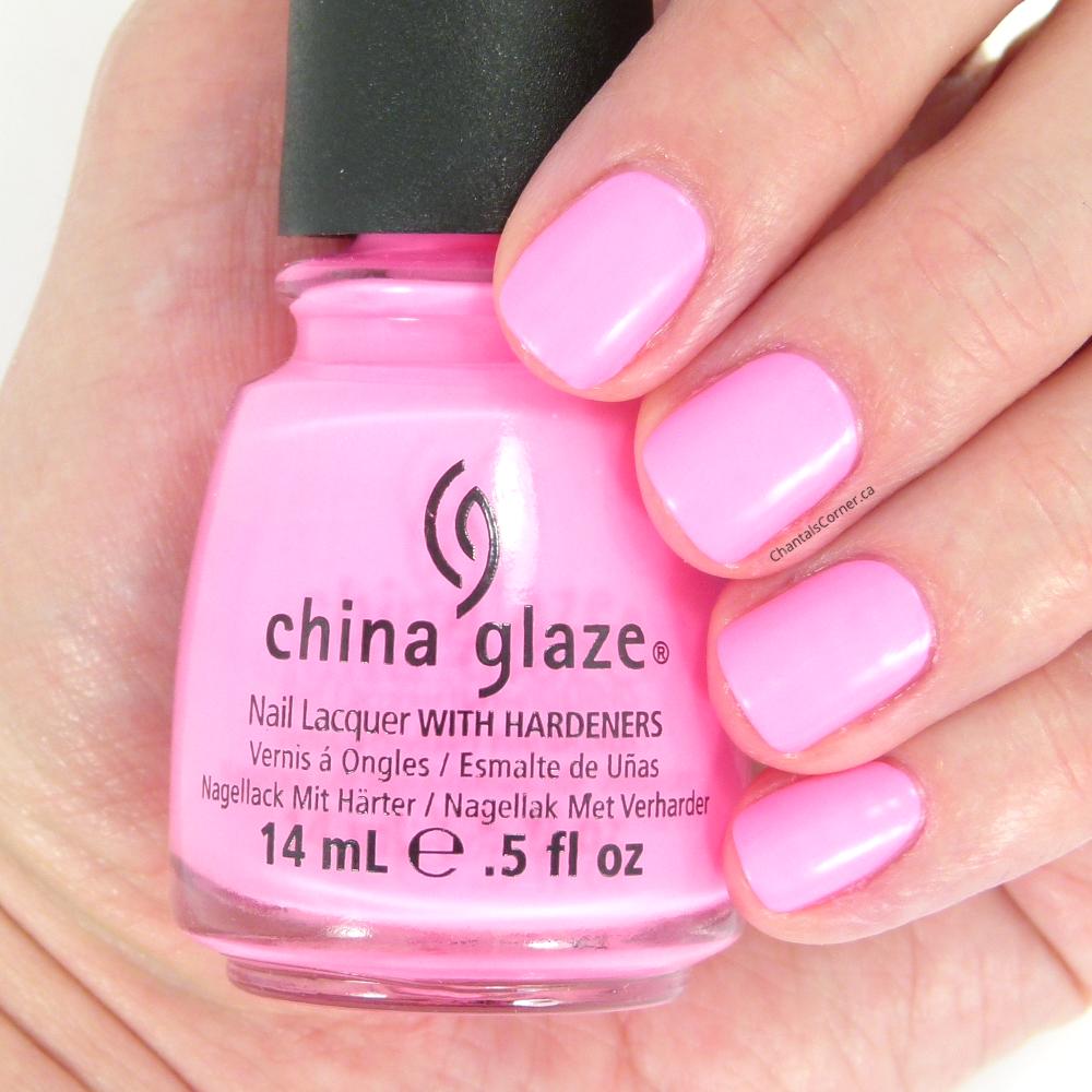 China Glaze \'\'Shocking Pink (neon)\'\' Nail Polish - Chantal\'s Corner