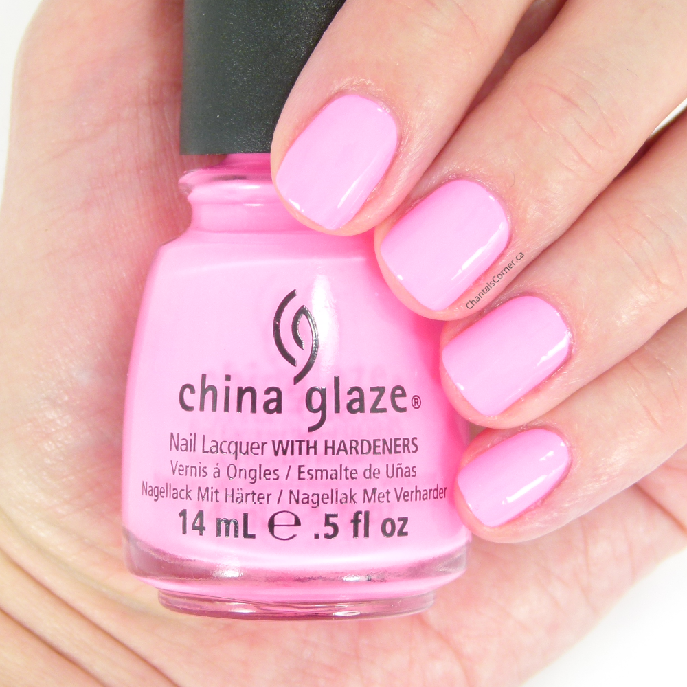 china glaze shocking pink neon nail polish