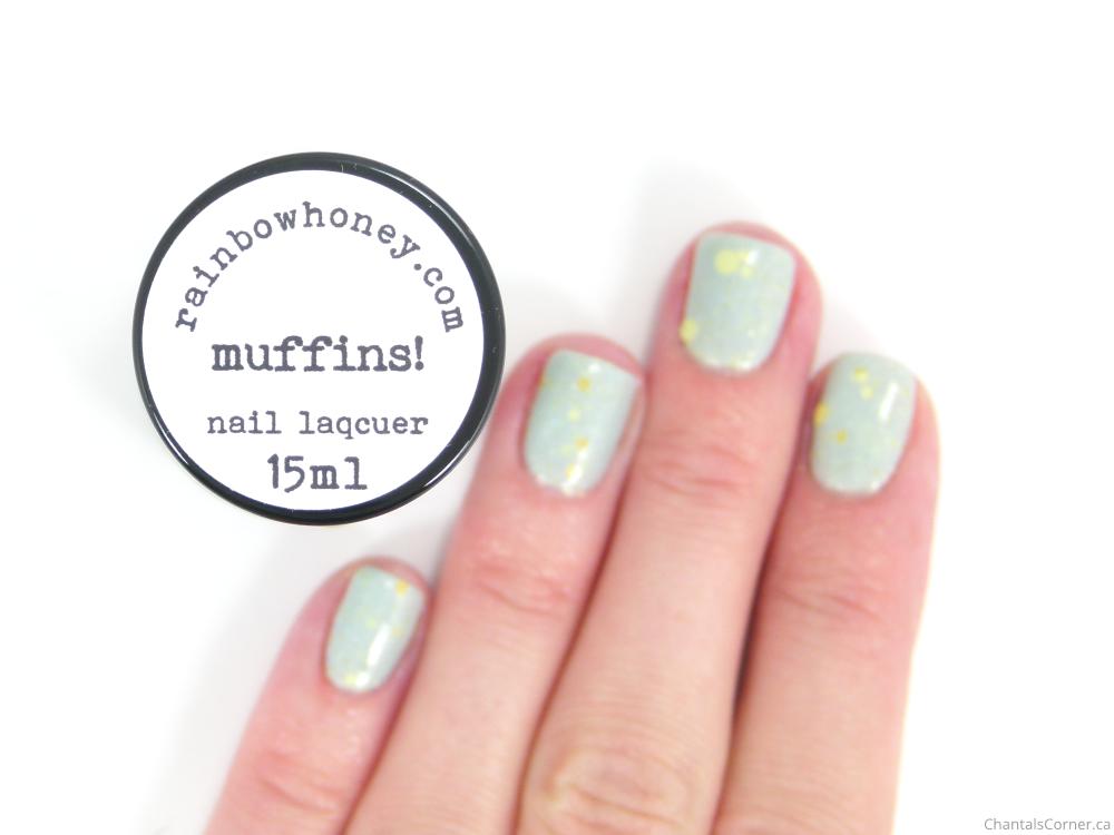 rainbow honey muffins nail polish