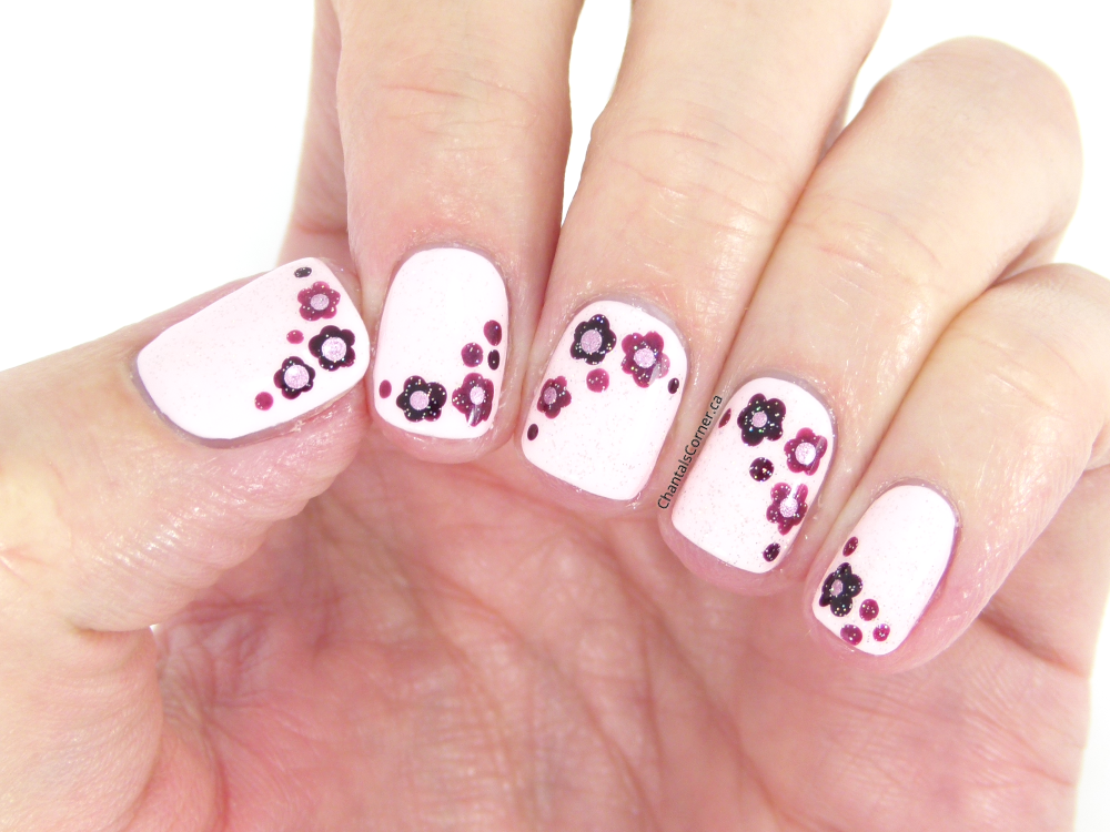 I'm a Guest on Gemstone Beauty: Delicate Dotted Flowers Nail Art
