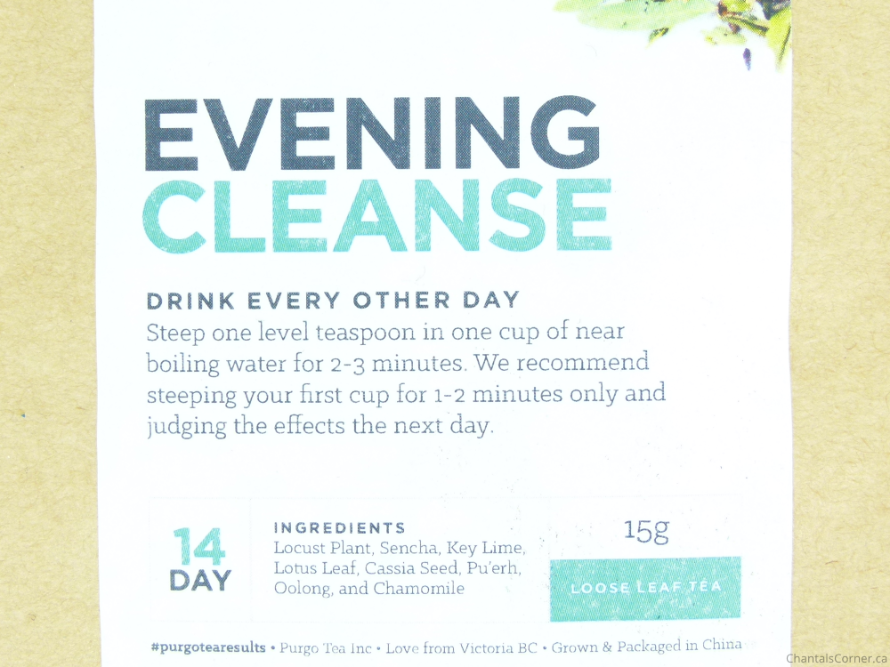 purgo tea evening cleanse