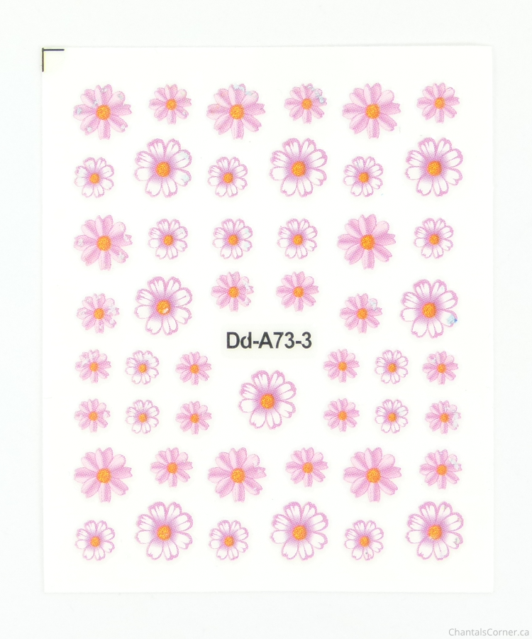 lady queen 3d flower nail art stickers