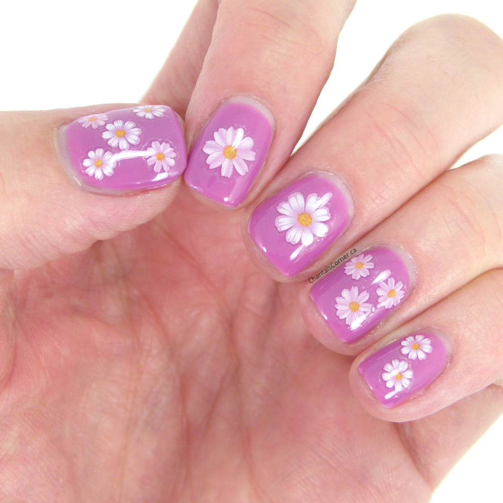 Nail Art Stickers: Lady Queen 3D Flower Nail Art Stickers