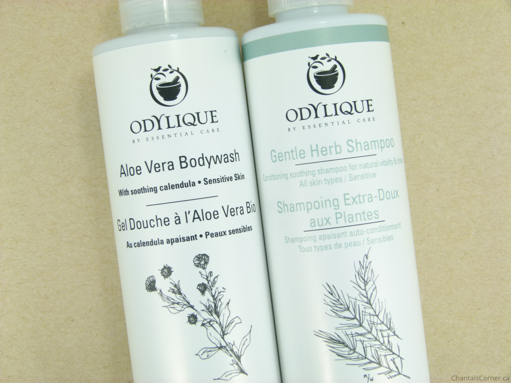 Odylique Aloe Vera Bodywash and Gentle Herb Shampoo