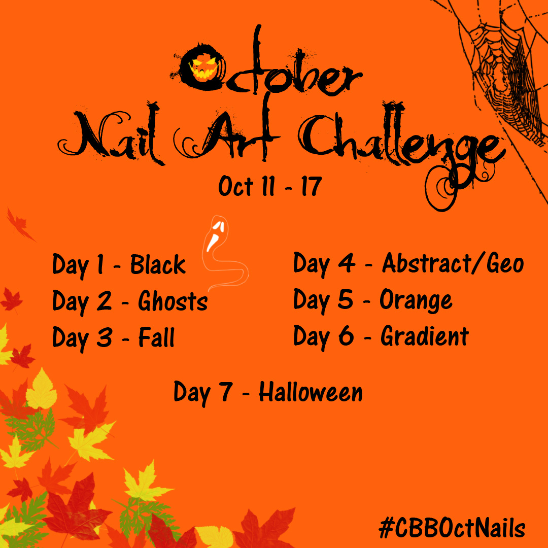 october nail art challenge
