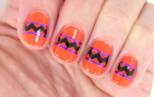 abstract halloween nail art