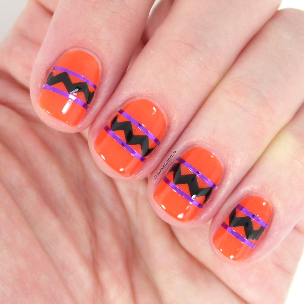 abstract halloween nail art