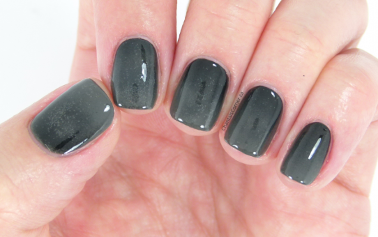 black and grey gradient nail art