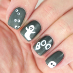 ghosts nail art