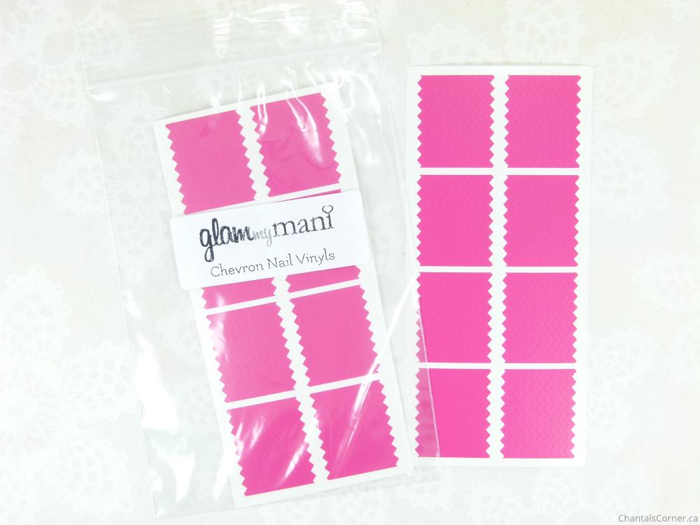 glam my mani chevron nail vinyls