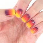 sunset gradient nail art