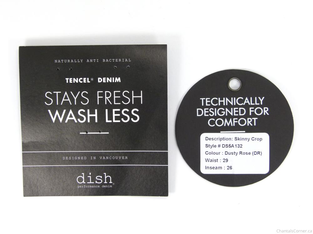 dish & DU/ER skinny crop pant